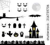 halloween collection | Shutterstock .eps vector #216735736