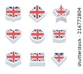 united kingdom flags button set ... | Shutterstock .eps vector #216772804