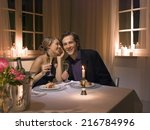 a couple having a candlelight... | Shutterstock . vector #216784996