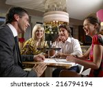 friends at a restaurant. | Shutterstock . vector #216794194