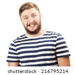 portrait of handsome man with... | Shutterstock . vector #216795214