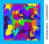 card with  pattern of colored... | Shutterstock . vector #216805069