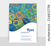 flyer or cover design with... | Shutterstock .eps vector #216812758