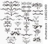 vector set of calligraphic... | Shutterstock .eps vector #216822400