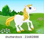 white horse. vector illustration   Shutterstock .eps vector #21682888