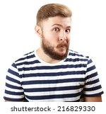 portrait of handsome man with... | Shutterstock . vector #216829330