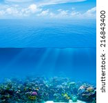 underwater deep with water... | Shutterstock . vector #216843400