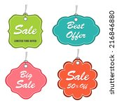 best and big sale label  tag or ... | Shutterstock .eps vector #216846880