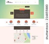 flat website design template.