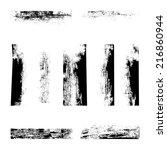 set of grunge textures | Shutterstock .eps vector #216860944