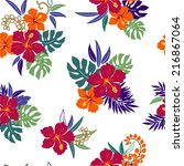 pattern of hibiscus | Shutterstock .eps vector #216867064