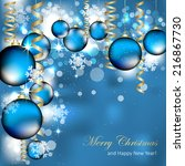 christmas and new year greeting ... | Shutterstock .eps vector #216867730