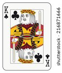 king of clubs playing card | Shutterstock .eps vector #216871666