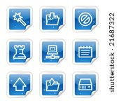 data web icons  blue glossy... | Shutterstock .eps vector #21687322