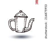 coffee pot  vector isolated  | Shutterstock .eps vector #216875953