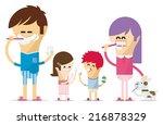 dental hygiene in the family   Shutterstock .eps vector #216878329
