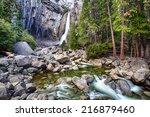 Lower Yosemite Falls And The...