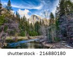 Half Dome Towers Above The...