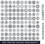 mandala. round ornament pattern....   Shutterstock .eps vector #216883750
