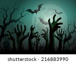 illustration of halloween... | Shutterstock .eps vector #216883990