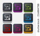 square button  computer | Shutterstock . vector #216884788