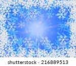 winter delightful snowfall... | Shutterstock . vector #216889513