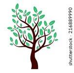 eco vector tree | Shutterstock .eps vector #216889990