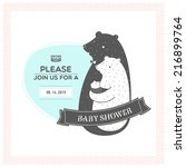 baby shower invitation | Shutterstock .eps vector #216899764