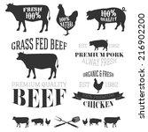 vector collection of beef ... | Shutterstock .eps vector #216902200