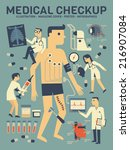 medical checkup infographics  | Shutterstock .eps vector #216907084