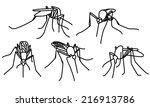 outline sketches of mosquitoes... | Shutterstock .eps vector #216913786