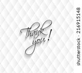 thank you card  modern leather... | Shutterstock .eps vector #216915148