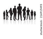 full length of silhouette... | Shutterstock .eps vector #216915493