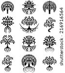 collection of trees | Shutterstock .eps vector #216916564