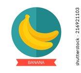 banana icon | Shutterstock .eps vector #216921103