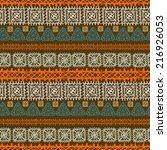 tribal art ethnic seamless... | Shutterstock . vector #216926053