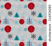 holidays winter seamless... | Shutterstock . vector #216926083