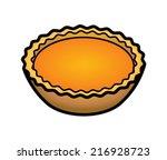 a pumpkin tartlet. | Shutterstock .eps vector #216928723