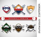 baseball emblem   Shutterstock .eps vector #216930604
