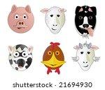 various cartoon comic farm... | Shutterstock . vector #21694930