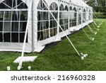 corner and side of large white...   Shutterstock . vector #216960328