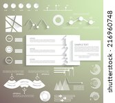 business infographic template | Shutterstock .eps vector #216960748