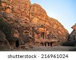 nabataean delubrum of the siq... | Shutterstock . vector #216961024