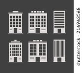 building icons set. isolated on ... | Shutterstock .eps vector #216963568
