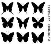Butterfly Silhouette Set ...