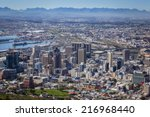 view of city bowl and business... | Shutterstock . vector #216968440
