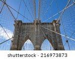 the brooklyn bridge is a bridge ... | Shutterstock . vector #216973873