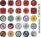 vector set of floral ornamental ... | Shutterstock .eps vector #216993373