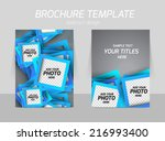 flyer template back and front... | Shutterstock .eps vector #216993400