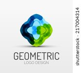 vector abstract geometric shape ... | Shutterstock .eps vector #217004314